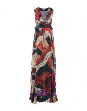Длинное платье JUST CAVALLI. Цвет: красный