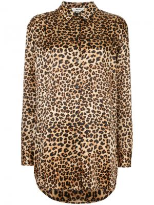 Блузка с леопардовым узором Mads Nørgaard. Цвет: коричневый
