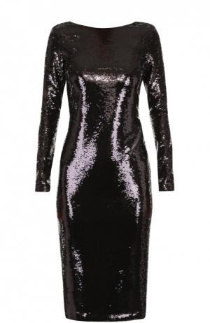 Платье-футляр с пайетками и открытой спиной Tom Ford. Цвет: черный