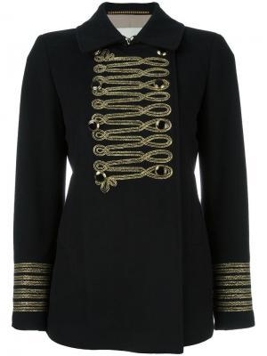 Двубортная куртка Bazar Deluxe. Цвет: чёрный