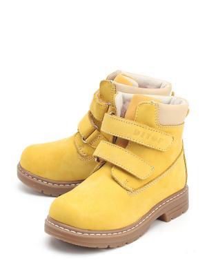 Ботинки DITOP. Цвет: желтый