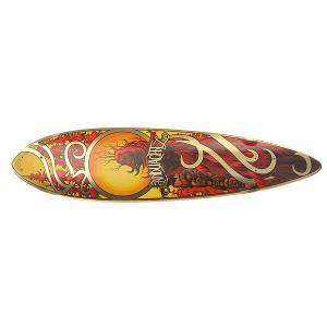 Дека для скейтборда лонгборда  Bamboo Totem Deck Assorted 41 (104.1 см) Landyachtz. Цвет: мультиколор