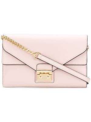 Кошелек Sloan на цепочке Michael Kors. Цвет: розовый и фиолетовый