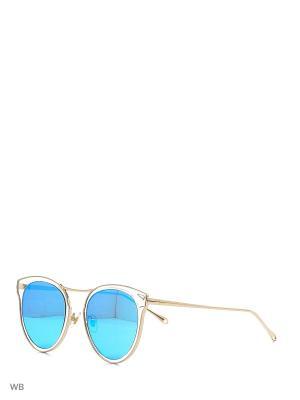 Солнцезащитные очки Vita pelle. Цвет: голубой, золотистый