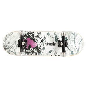 Фингерборд  П9 Simple Heart/Black/Clear Turbo-FB. Цвет: белый,черный,розовый