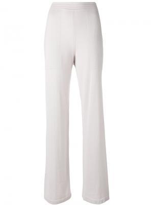 Расклешенные трикотажные брюки Calvin Klein. Цвет: none