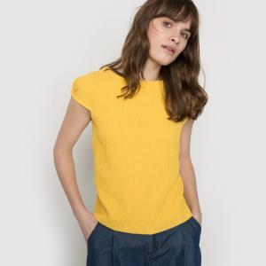 Блузка из структурной ткани La Redoute Collections. Цвет: желтый,слоновая кость,черный