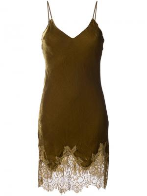 Lace trimmed dress Gold Hawk. Цвет: зелёный