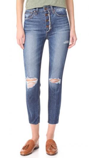 Укороченные джинсы-скинни Charlie с высокой посадкой Joe's Jeans. Цвет: maita