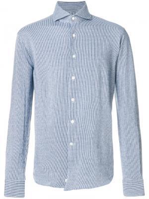 Полосатая рубашка Alessandro Gherardi. Цвет: синий