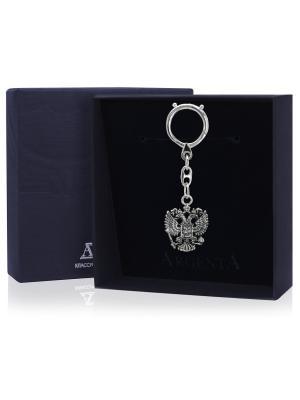 Брелок для ключей Герб черн. + футляр АргентА. Цвет: серебристый
