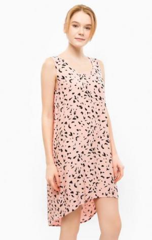 Короткое платье свободного кроя ICHI. Цвет: розовый