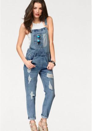 Комбинезон Aniston. Цвет: синий