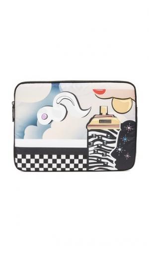 Чехол Clouds для ноутбука с диагональю экрана 13 дюймов Marc Jacobs. Цвет: черный мульти