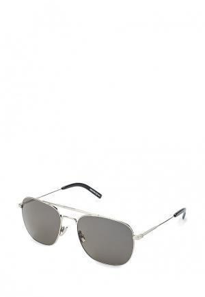 Очки солнцезащитные Saint Laurent. Цвет: серебряный