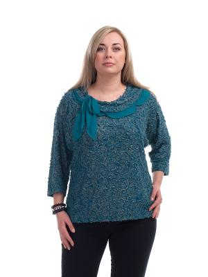 Блуза OLSI. Цвет: бирюзовый