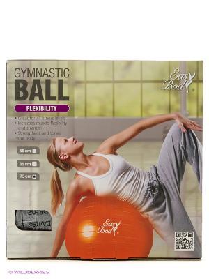 Мяч гимнастический 75см Easy Body. Цвет: черный