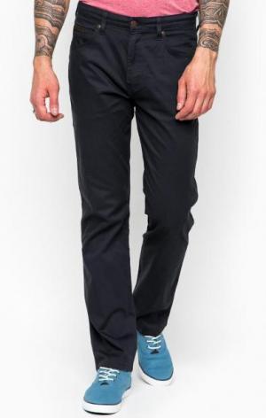 Хлопковые брюки прямого кроя Wrangler. Цвет: синий