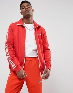 Adidas Originals Красная спортивная куртка Beckenbauer BR4334. Цвет: красный