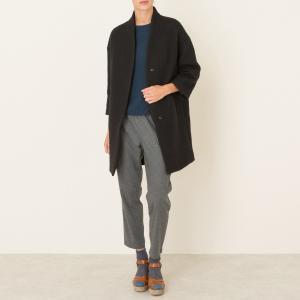 Пальто длинное POMANDERE. Цвет: серо-коричневый
