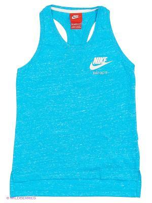 Топ GYM VINTAGE TANK YTH Nike. Цвет: синий