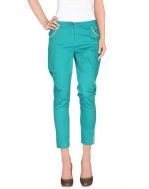 Повседневные брюки CORTE DEI GONZAGA. Цвет: бирюзовый