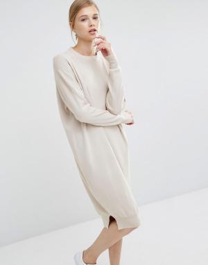 Paisie Платье-джемпер. Цвет: кремовый