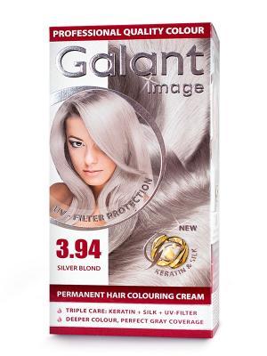 Cтойкая крем-краска для волос  GALANT 3.94 серебристый блондин, 125 мл., (Болгария) Image. Цвет: серебристый