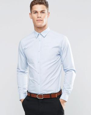 New Look Светло-голубая поплиновая рубашка классического кроя. Цвет: синий