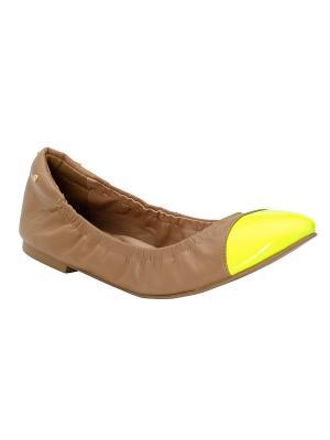 Балетки APART. Цвет: бежевый, желтый