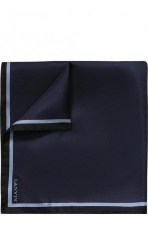 Шелковый платок с контрастным кантом Lanvin. Цвет: темно-синий