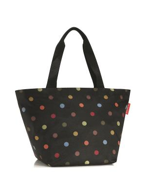 Сумка Shopper M dots Reisenthel. Цвет: черный