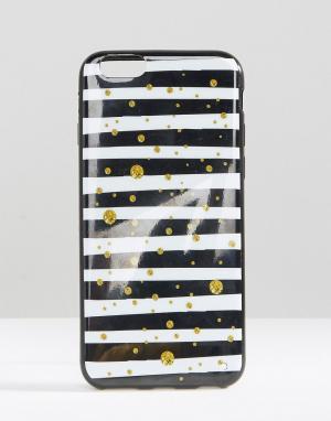 SIGNATURE Чехол для iPhone 6 в полоску. Цвет: белый