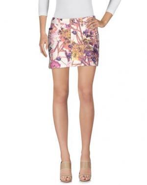 Джинсовая юбка JUST CAVALLI. Цвет: телесный