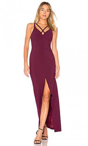 Вечернее платье leslie LIKELY. Цвет: красное вино