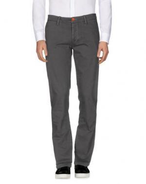 Повседневные брюки QU4TTRO. Цвет: серый