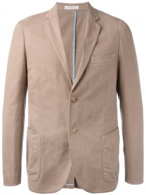 Пиджак на пуговицах Boglioli. Цвет: телесный