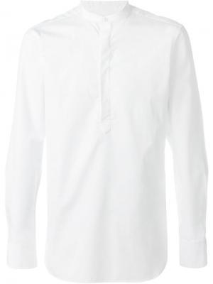 Рубашка с воротником-стойкой E. Tautz. Цвет: белый