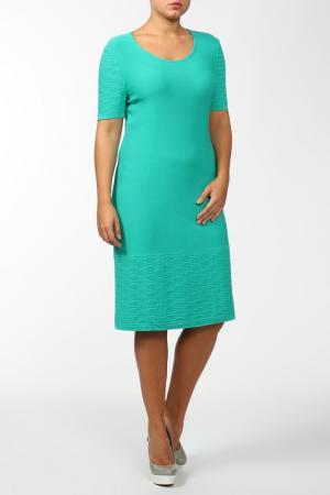 Платье вязаное, юбка нижняя Stizzoli. Цвет: зеленый