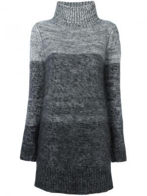 Трикотажное платье с отворотной горловиной Rag & Bone. Цвет: белый