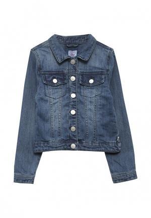 Куртка джинсовая Chicco. Цвет: синий