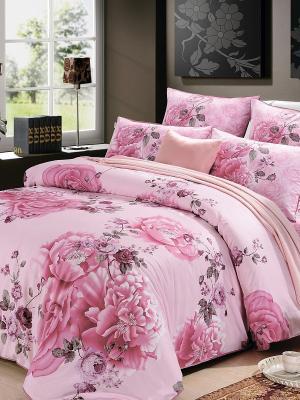 Комплект постельного белья, Роза Гобелен, Семейный KAZANOV.A.. Цвет: розовый