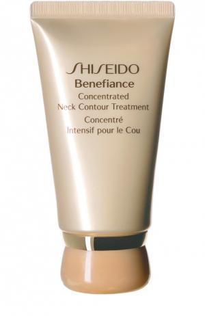 Концентрированный крем Benefiance для ухода за кожей шеи Shiseido. Цвет: бесцветный