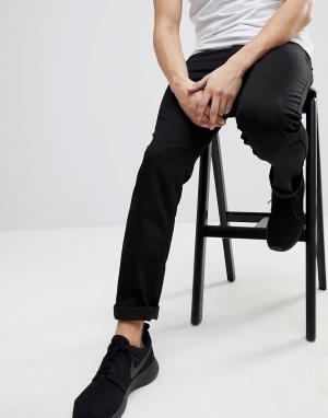 WESC Черные джинсы слим Eddy. Цвет: черный