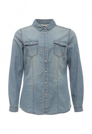 Рубашка джинсовая Brave Soul. Цвет: голубой