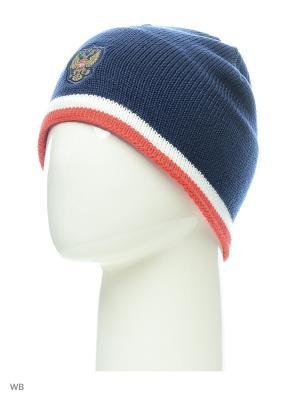 Шапка RFU BEANIE DKBLUE/RED/WHITE Adidas. Цвет: темно-синий