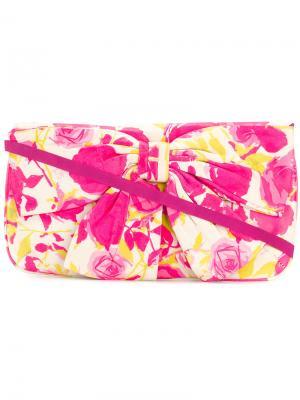 Клатч с бантом Lulu Guinness. Цвет: розовый и фиолетовый