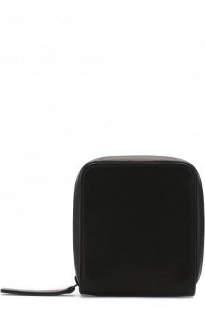 Кожаный кошелек на молнии Ann Demeulemeester. Цвет: черный