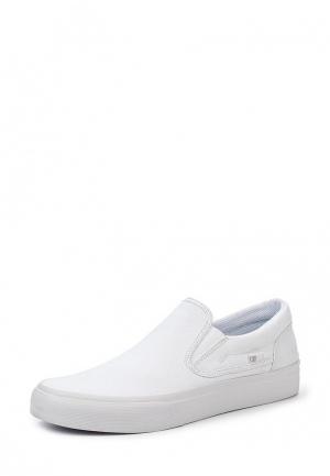 Слипоны DC Shoes. Цвет: белый