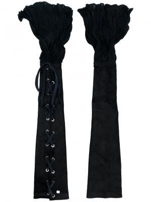 Рукава со шнуровкой Lost & Found Ria Dunn. Цвет: чёрный